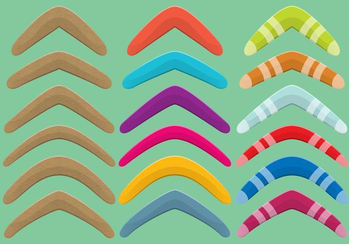 Madera Y Plástico Boomerang Vector