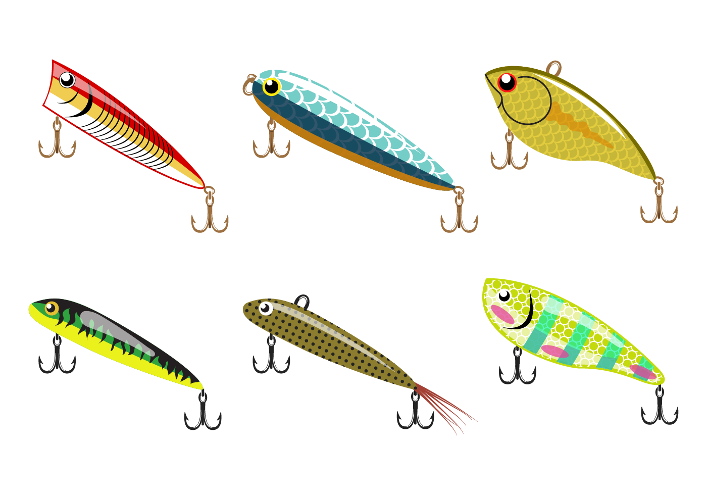 free fishing lure vector download free vector art stock