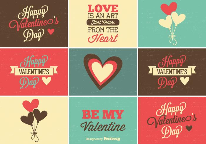 Leuke Set Valentine's Day Labels vector
