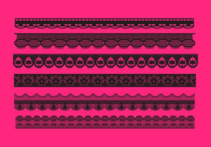 Lace Trim Patterns Vector
