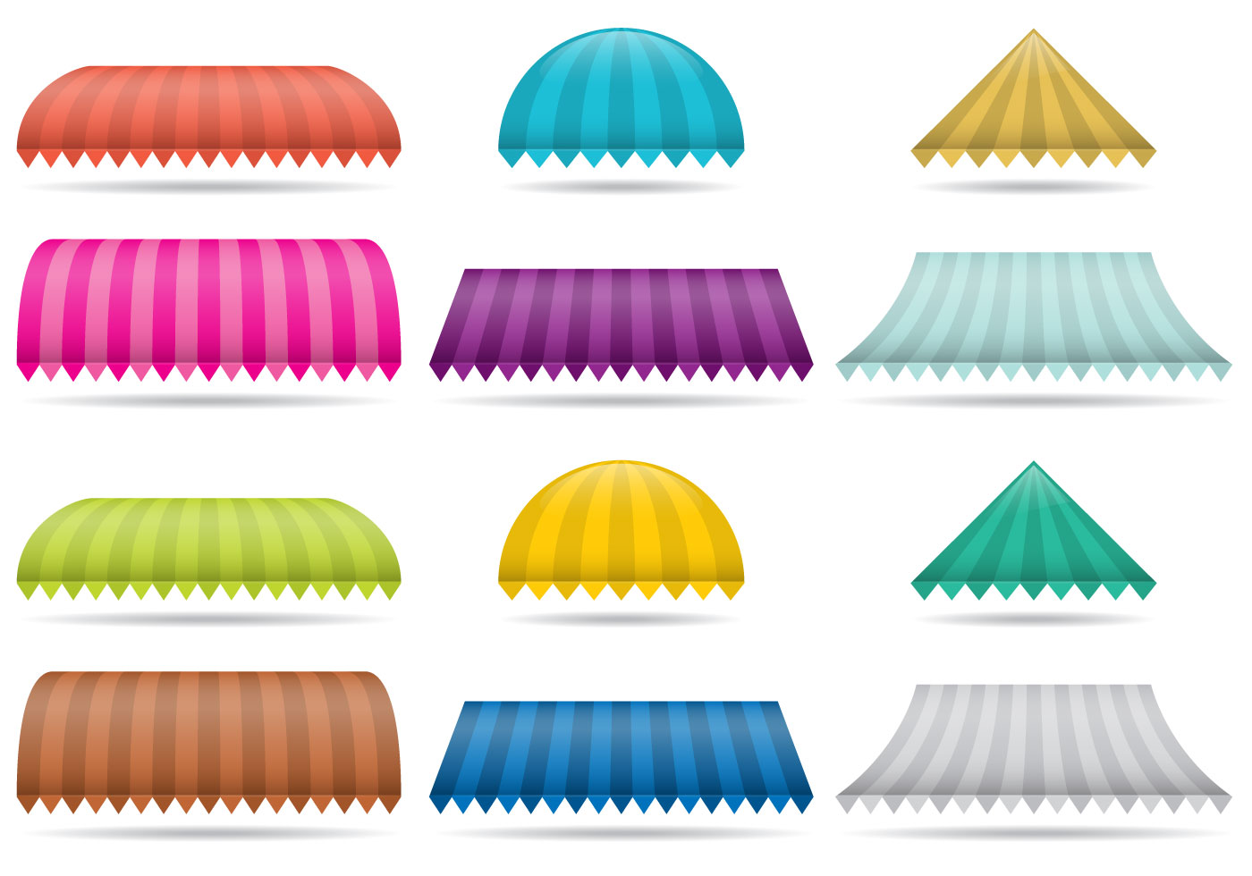 Striped Awnings Download Free Vector Art Stock Graphics