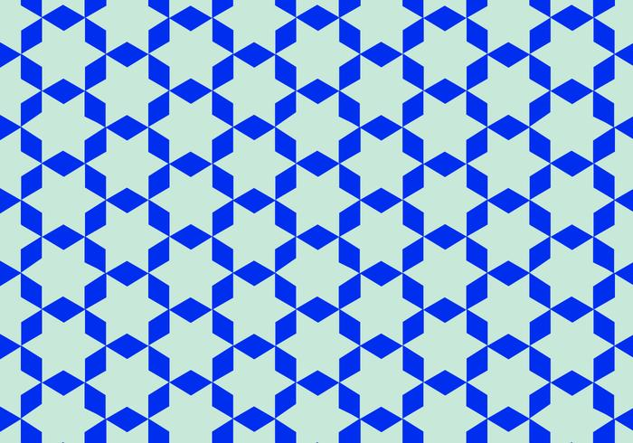 Blue Arabic Pattern Vector