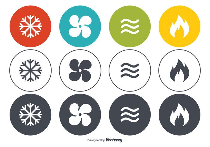 HVAC Vector Icon Set