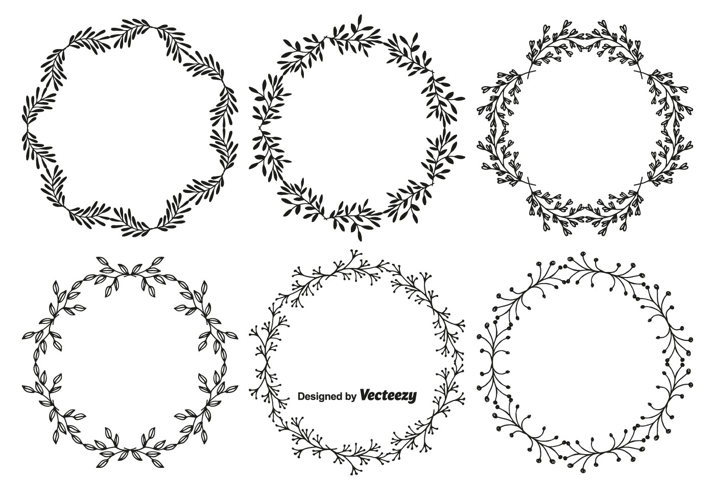 Glasses Frame Vector : Hand Drawn Style Vector Frame Set - Download Free Vector ...