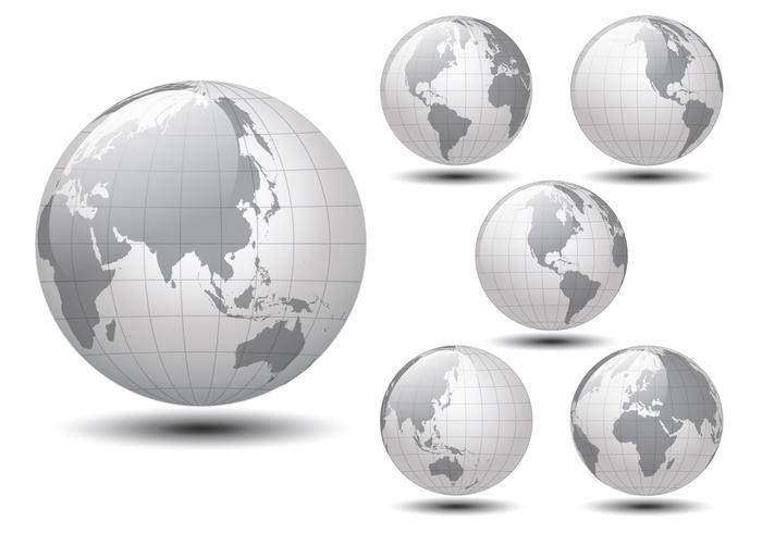 Glossy Weltkarte