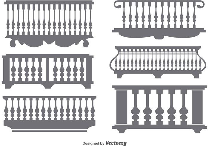 Flat Classical Balcony Icon Vectors