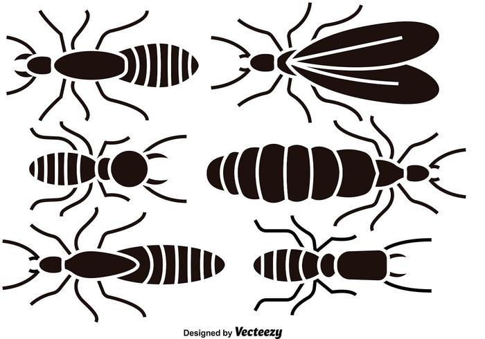 Zwarte termiet silhouetten