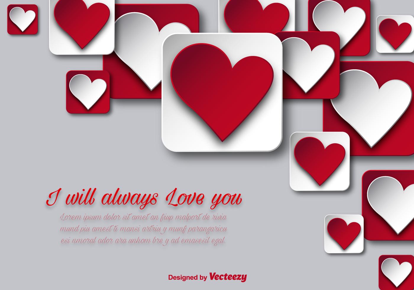 Valentinstag hintergrund mit herzen kostenlose vektor - Animale san valentino clipart ...