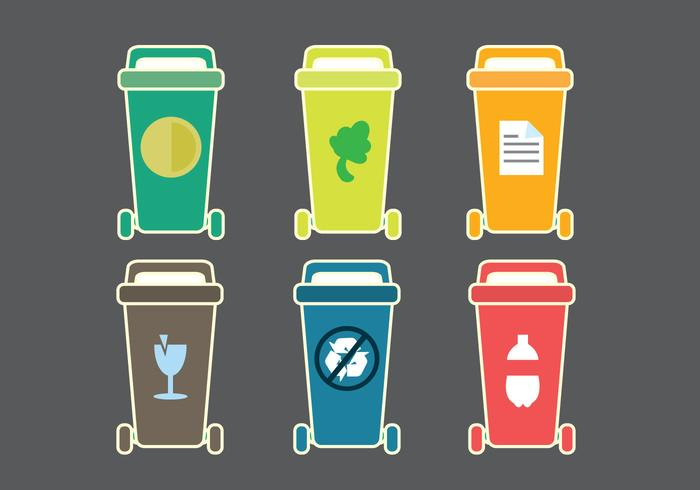 Gratis Dumpster Classificatie Vector Icon