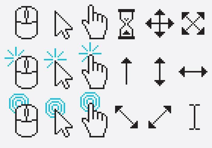 Vettori di pixel del cursore
