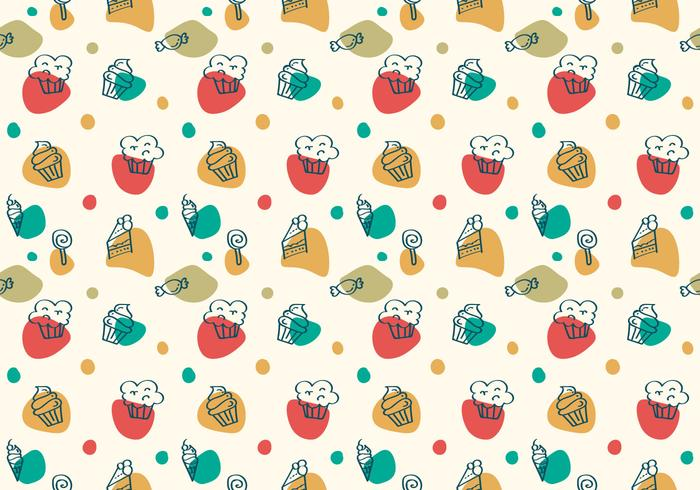 Free Cake and Dessert Vector Patterns