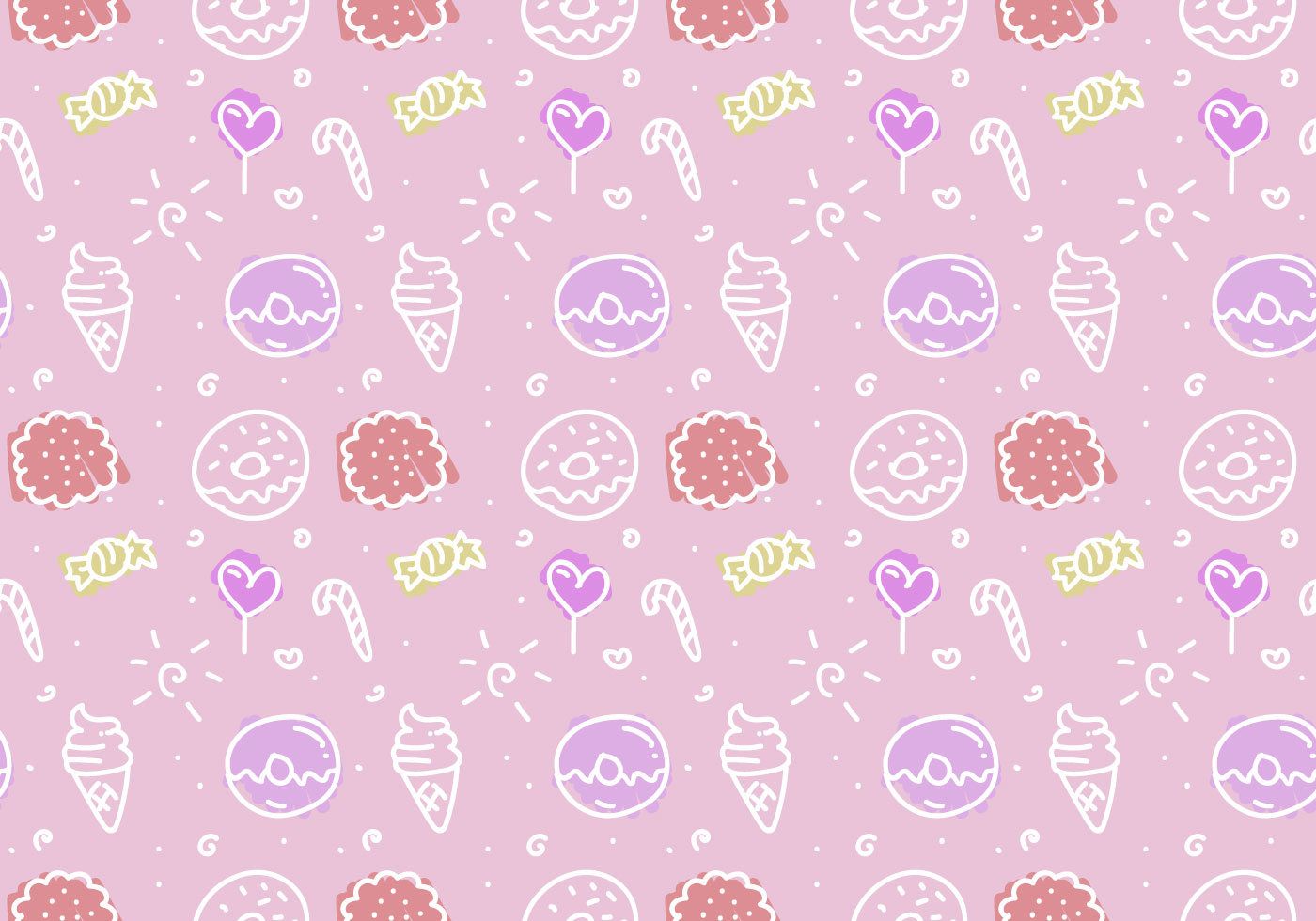 Free Pink Cake Vector Pattern Download Free Vector Art