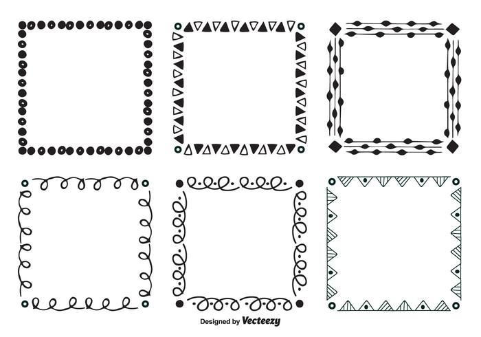 Hand Drawn Style Vector Frames
