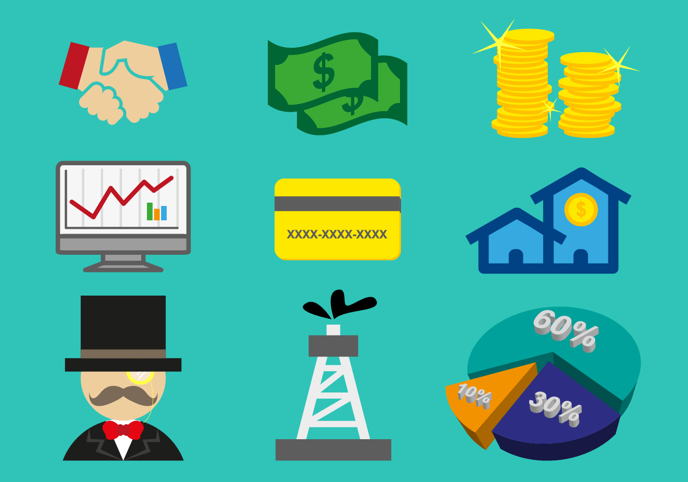 monopoly elements illustration vector download free