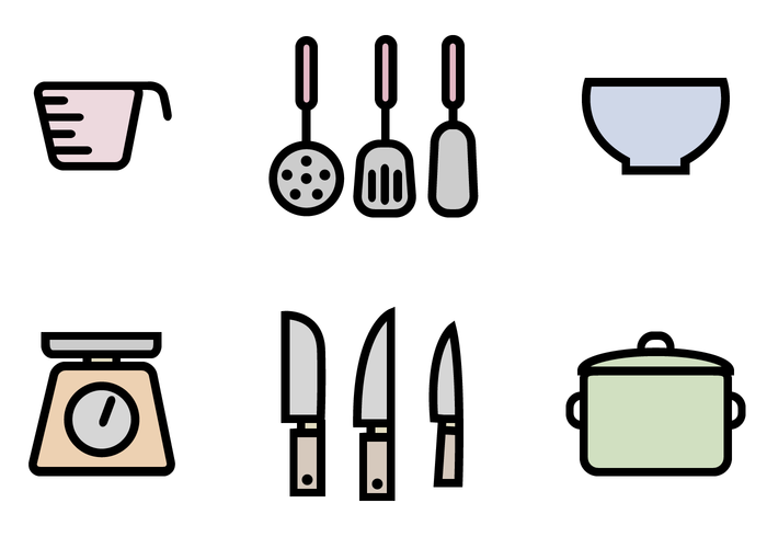 Free Kitchen Icons Pack Vector