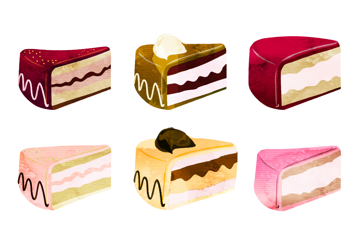 Vector Cake Pieces Download Free Vector Art Stock