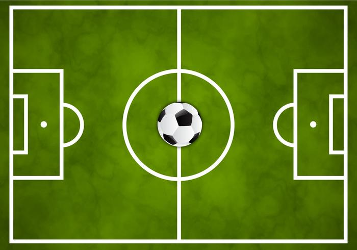 Sports Ball Vector Background Art Free Download: Free Soccer Green Field Vector