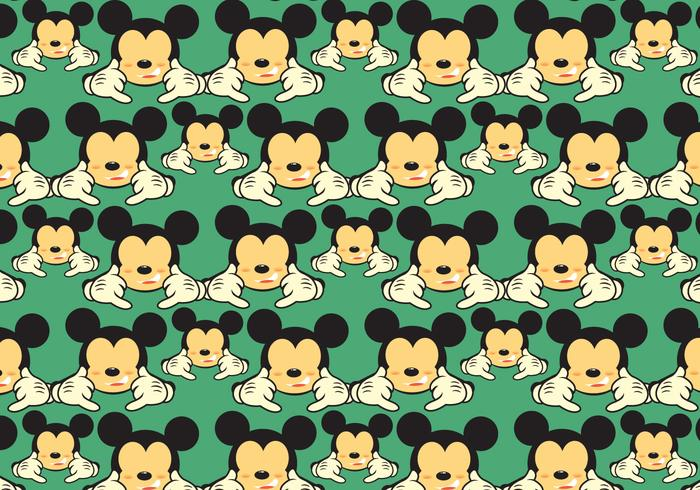 Gratis Mickey Shaka Patroon Vector