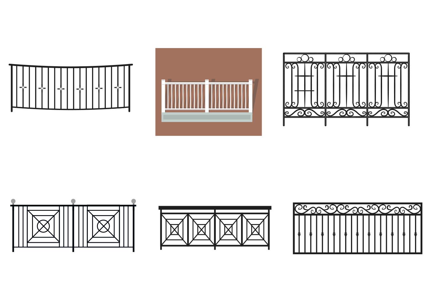 Balcony rail vectors download free vector art stock for Balcony vector