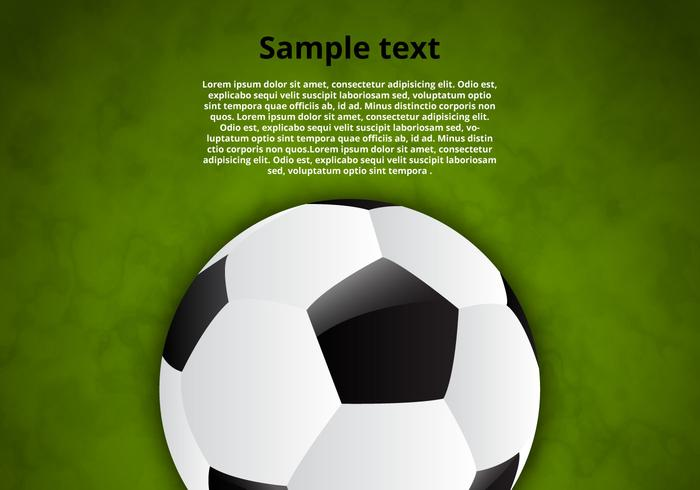 Free Soccer Ball Vector Background