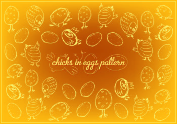 Free Easter Chicks Vector Background