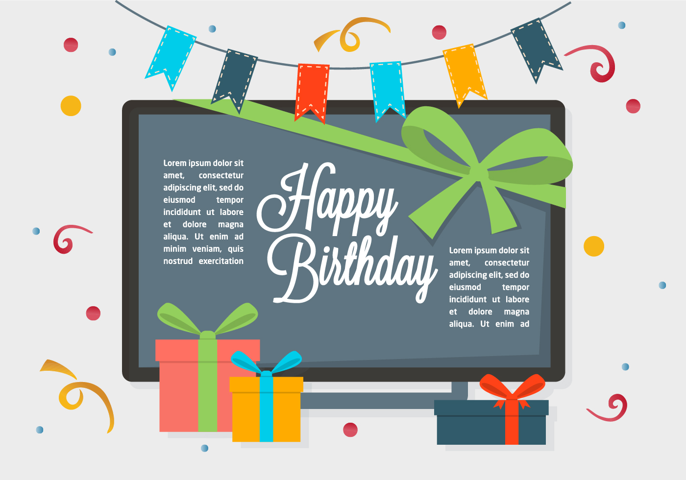 free happy birthday vector background  download free