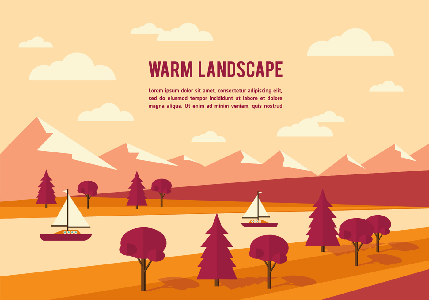 vector cartoon landscape backgroundsfree - photo #33