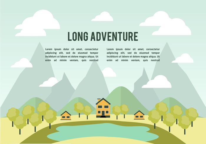 Flat Landscape Vector Background