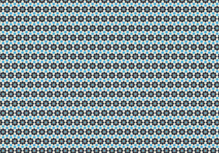 Geometric Floral  Pattern Vector