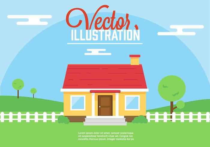Free Vector House Illustration