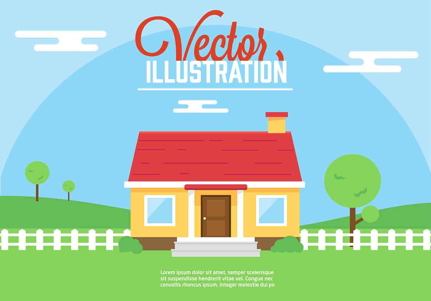 Vector House Illustration - Download Free Vector Art, Stock Graphics ...