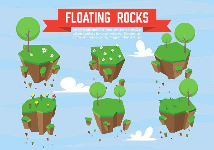 Vector Floating Rocks