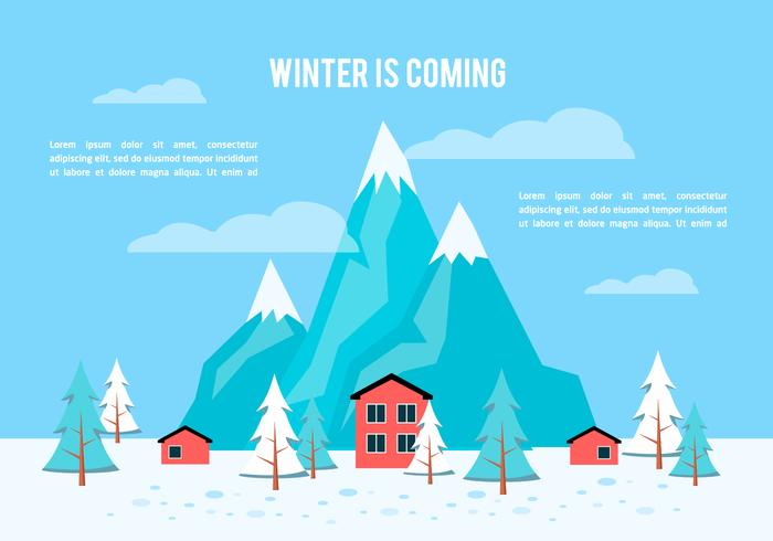 Free Flat Winter Vector Background