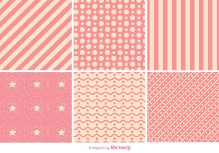Geometrische Roze Patroonvectoren