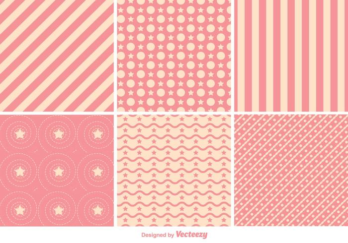 Geometric Pink Pattern Vectors