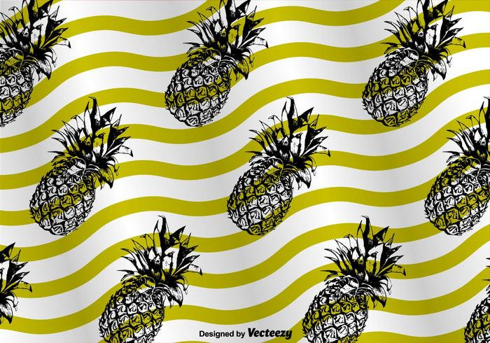 Ananas pattern background vector