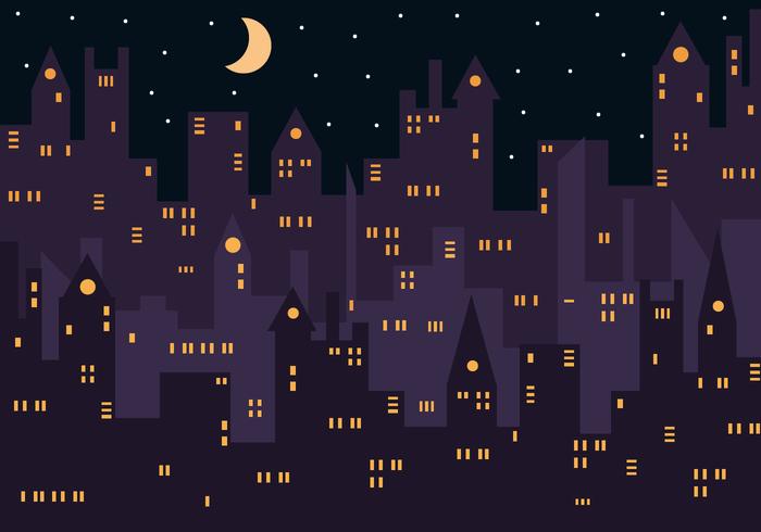 Vector libre de la noche de la ciudad