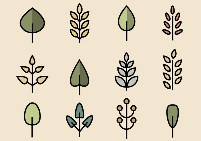 Free Leaves Pack Vektor