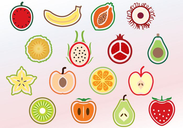 Sliced Fruits Vectors
