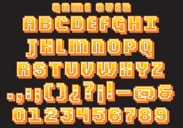 Retro Video Game Type Vector