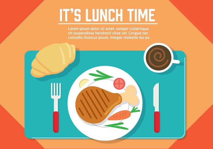 Free Vector Lunch Illustration