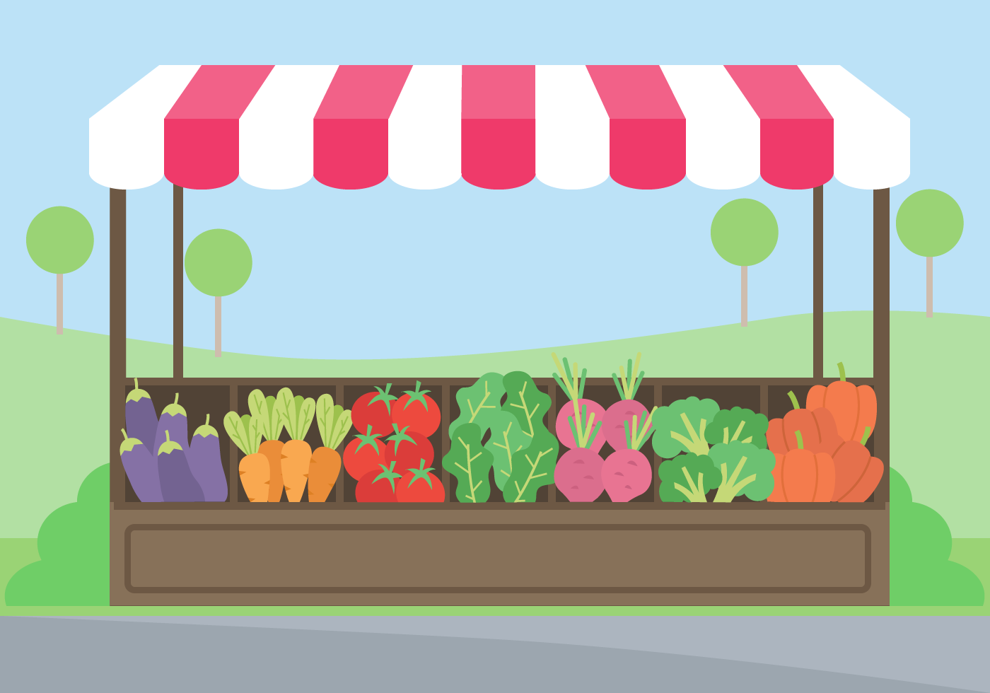 Free Vegetables Market Vector Download Free Vectors