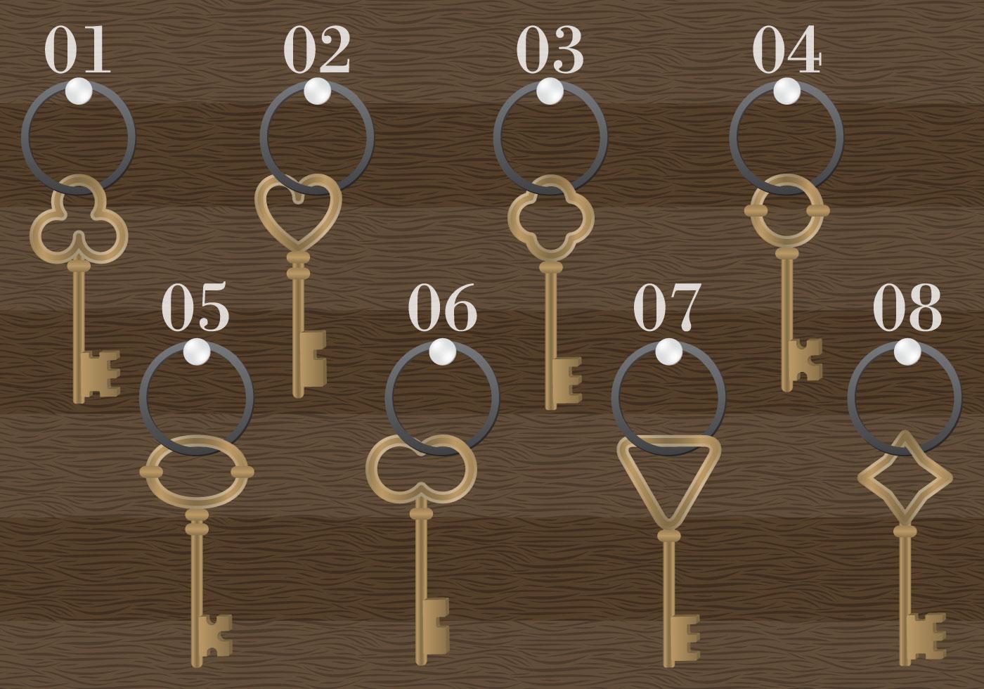 Wooden Antique Key Holder Vector
