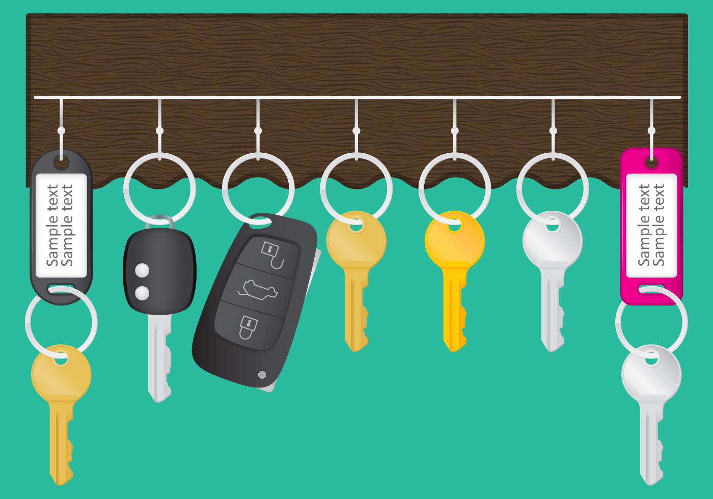 Wall Key Holder Vector Download Free Vector Art Stock