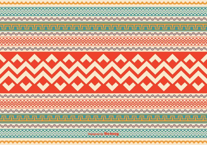 Colorful Aztec Style Pattern Vector Background