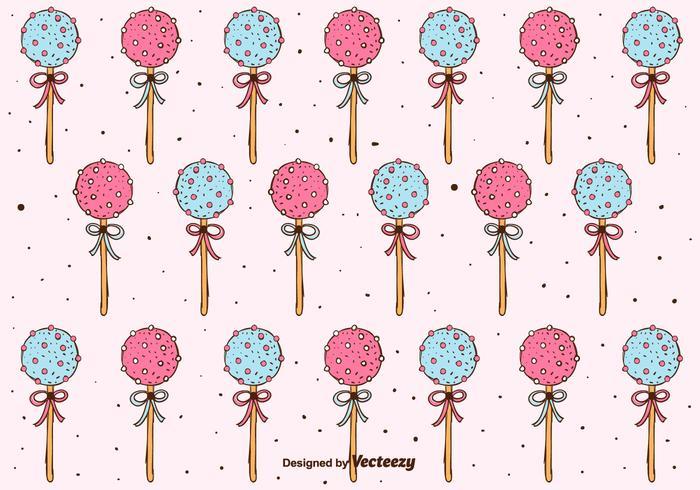 Kuchen Pops Muster Hintergrund