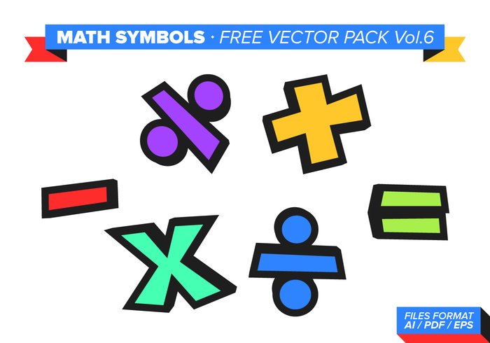 Math Symbols Free Vector Pack Vol 6 Download Free Vector Art