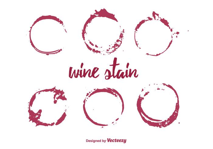 Vector Set of  Wine Stain