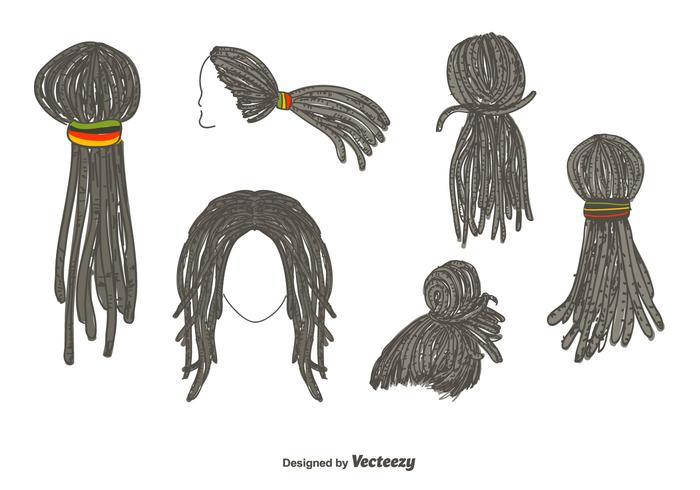 Dreadlocks Kapsalon Vector