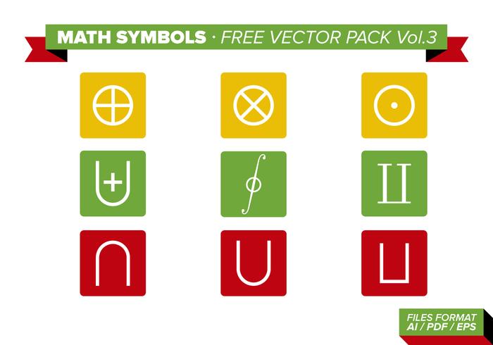 Math Symbols Free Vector Pack Vol. 3